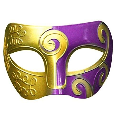 Party Masks Masquerade, Elevin(TM) Retro Roman Gladiator Swordsman Halloween Party Masks Mardi Gras Masquerade Mask (E) -