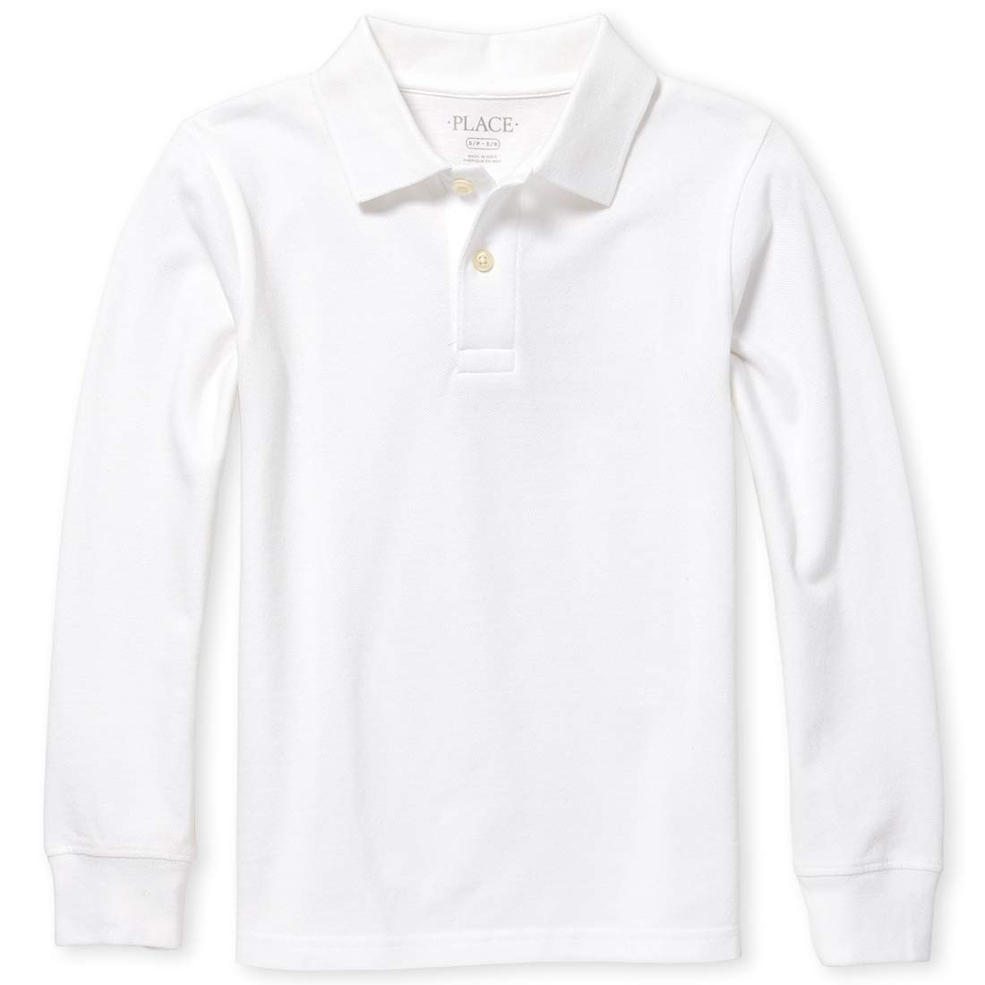 White 18-24 Months The Childrens Place Baby Boys Long Sleeve Uniform Polo