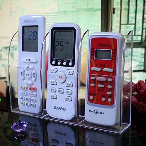 HyFanStr Wall Mounted Acrylic Remote Control Holder Media Storage Organizer Box by HyFanStr