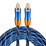 Optical Cables, EMK LSYJ-A 3m OD6.0mm Gold Plated Metal Head Toslink Male to Male Digital Optical Audio Cable