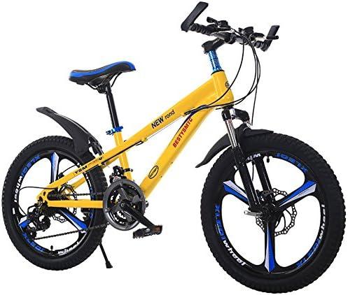 CivilWeaEU- Bicicleta Infantil Bicicleta de montaña de 20 Pulgadas Velocidad 6-10-11-12 años Frenos de Disco Doble Colegiala niño (Multicolor Opcional) (Color : Amarillo): Amazon.es: Hogar