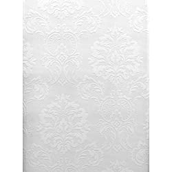 Brewster 429-6705 Paintable Solutions III Damask Paintable Wallpaper, 20.5-Inch by 396-Inch, White