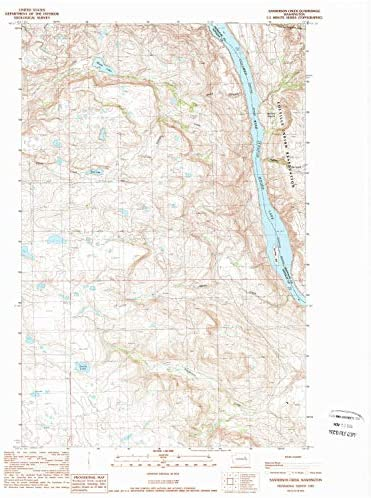 1:24000 Scale YellowMaps Hardscrabble Mountains NM topo map Historical 1996 27 x 22 in 7.5 X 7.5 Minute Updated 2002