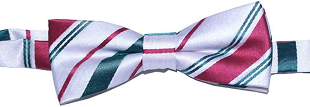Bow Tie for children ages 0-13 years old Childrens Pre-tied Bow Tie Christmas Tie Candy Cane Stripe Bow Tie for Children