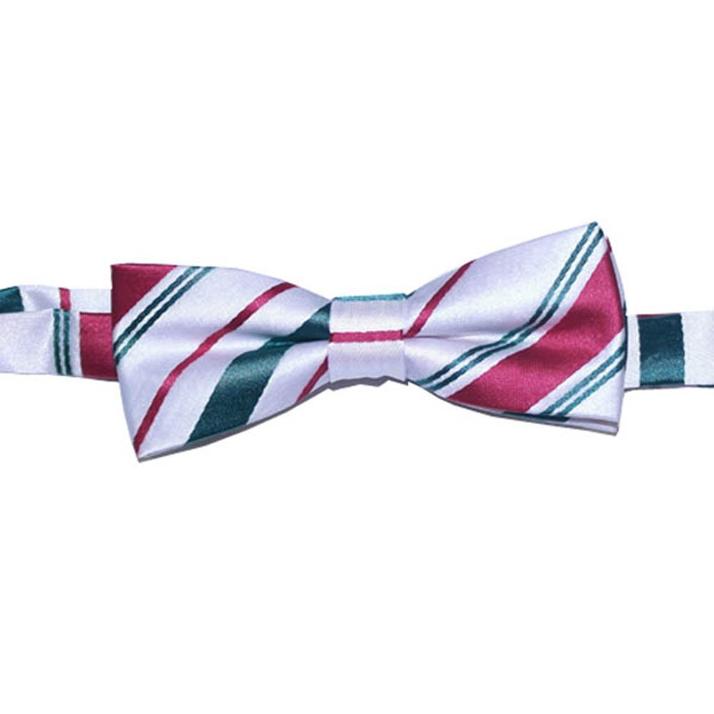 Boys Pretied Bow Tie Christmas Candy Cane B Bow CCW