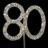 Sparkly Diamante Cake Topper Number 80 SALE PRICE