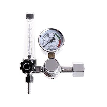 Regulador de flujo de presión de gas de soldadura de metal Argon CO2, medidor MIG Tig MAG: Amazon.es: Hogar