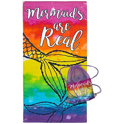 3C4G Mermaid Towel with Sling Bag
