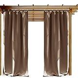 Cheap NICETOWN Outdoor Curtain for Patio, Thermal Insulated Privacy Outdoor Curtain, Patio Curtain, Porch Outdoor Curtain (1 Pcs, 52 x 108-Inch, Tan-Khaki)