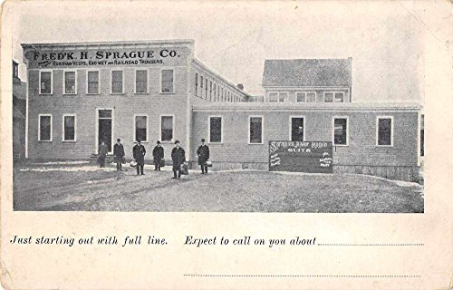 Sprague Co Men's Clothing Store Exterior Advertising Antique Postcard J77951