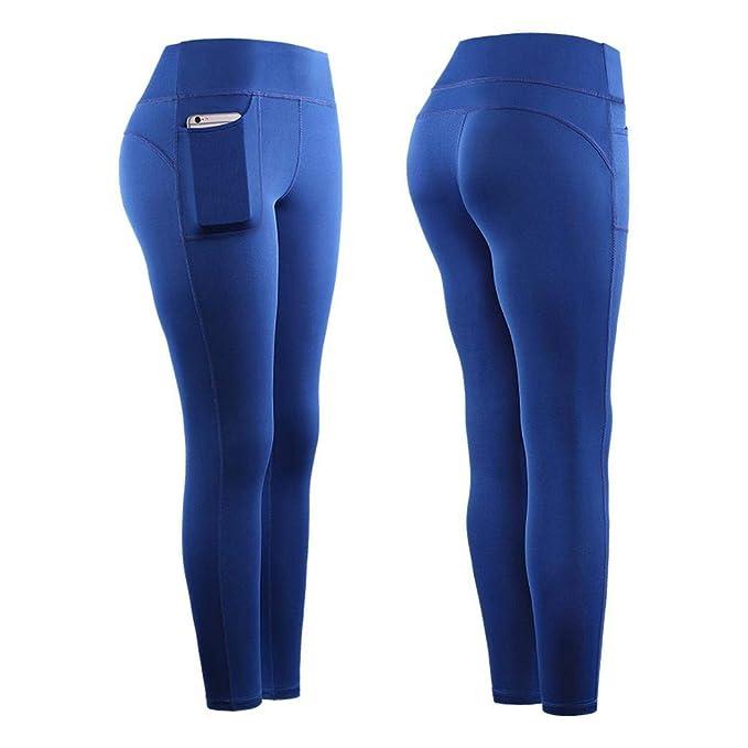 scottpown Mujer Yoga Fitness Running Gym Stretch Sports Pockets Leggings Leggings