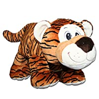 Anico Collectible Plush Toy Laying Down, Stuffed Animal, Tiger, 13 Inches Tall
