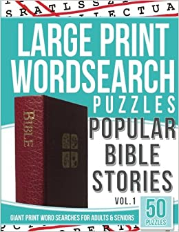 Large Print Wordsearches Puzzles Popular Bible Stories Giant Print