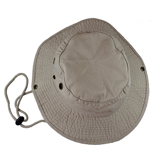 Gelante 100% Cotton Stone-Washed Safari Booney Sun Hats 1910-Putty-L/XL