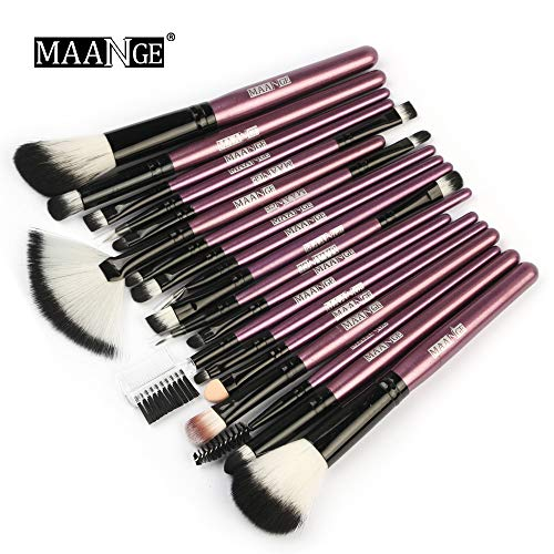 Tonsee Makeup Brushes Set, 18PCS Wooden Foundation Cosmetic Eyebrow Eyeshadow Brush Makeup Brush Sets Tools