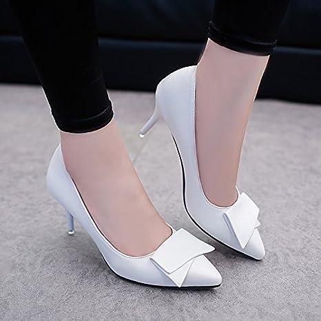 the latest 927d1 c4311 Xue Qiqi bianco con tacco alto scarpe belle con scarpe donne ...