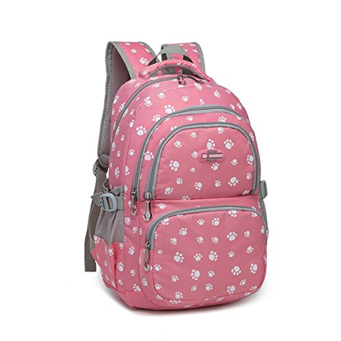 Students Color Candy School Bag Backpack Student Paw Computer The Notebook Rose Shoulder College Prints Style Dog Ladies rrTqwgUWF