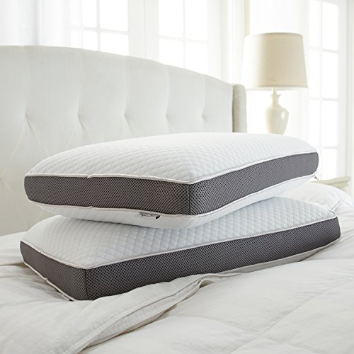 Memory Foam Pillow Dual Option Cooling Gel By Perfect
