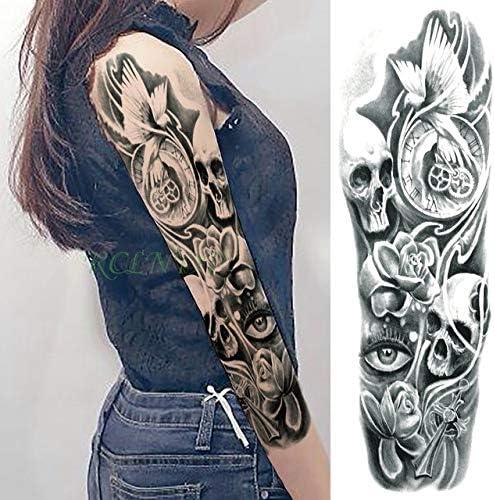 ljmljm 3pcs Tatuaje Impermeable Etiqueta engomada Flor Hermosa del ...