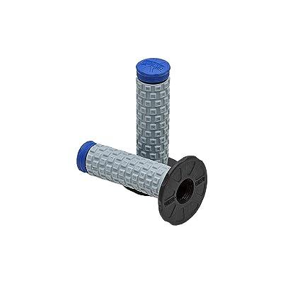 Pro Taper Pillow Top MX Grips - Black/Grey/Blue: Automotive