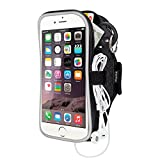 """Running Armband iPhone 6/6s Plus,Sport Armband Case for Samsung Galaxy s5/s6/s6 edge/s7/s7 edge plus/grand prime,Huawei p7/p8/p8 lite/p9/p9 lite plus,Oneplus 2/3 etc and other Similar 5.5"""" Phones - Black"""