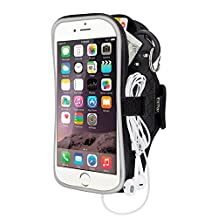 """Running Armband iPhone 6/6s,Sport Armband Case for Moto G/X,LG Google Nexus 4,Sony Xperia Z5/Z3,HTC One M7,Huawei P6/Ascend Y530,Samsung Galaxy S5 Mini etc and other Similar 4.7"""" Phones - Black"""