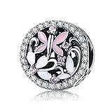 BAMOER 925 Sterling Silver Happy Animal Beads for Women Teen Girls Snake Bracelet Gift