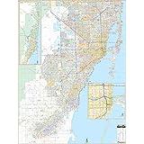 Amazon.com: Miami-Dade County, Florida FL ZIP Code Map Not Laminated ...