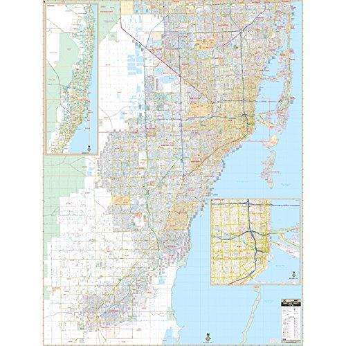 Miami-Dade County, FL Wall Map