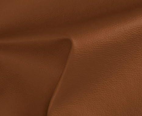 HAPPERS 1 Metro de Polipiel para tapizar, Manualidades, Cojines o forrar Objetos. Venta de Polipiel por Metros. Diseño Solar Color Cuero Ancho 140cm