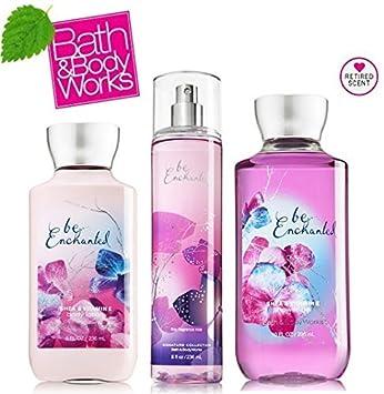 Be Enchanted Shower Gel 10 Oz Body Lotion 8 Oz Fine Fragrance Mist Set of Three