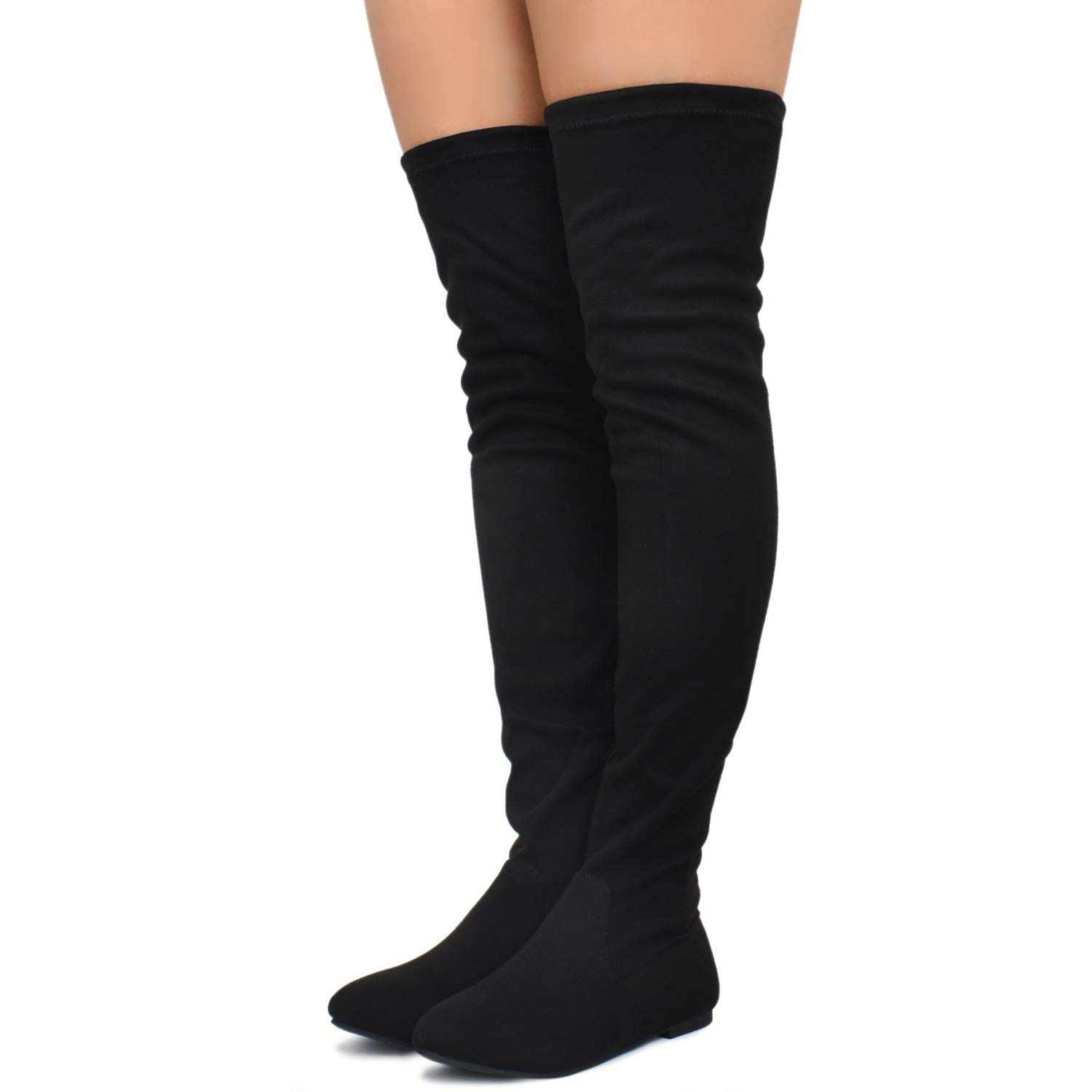787f784b656b Premier Standard Womens Lace Thigh High Over The Knee Riding Boots Side  Zipper Comfy Vegan Suede