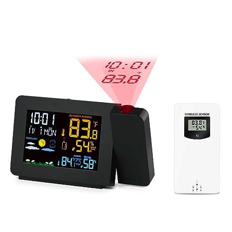 Protmex PT3391 Reloj meteorológico de proyección, DCF Reloj ...
