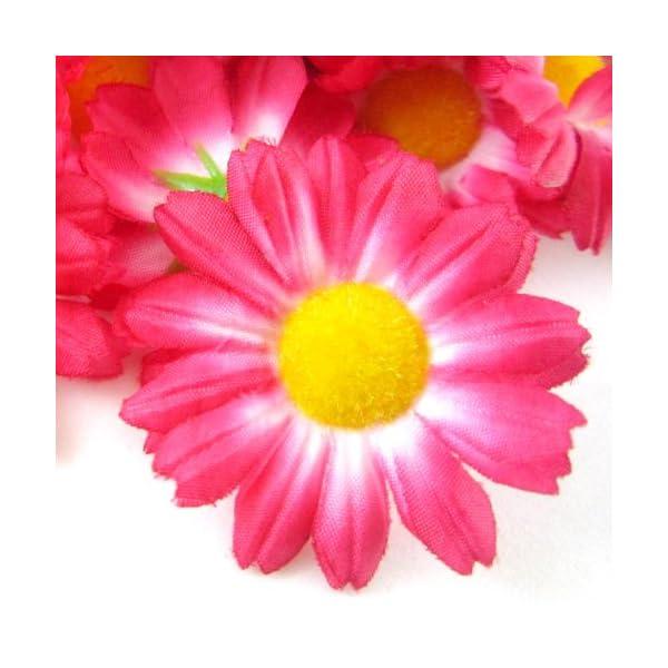 12-Silk-Hot-Pink-Gerbera-Daisy-Flower-Heads-Gerber-Daisies-175-Artificial-Flowers-Heads-Fabric-Floral-Supplies-Wholesale-Lot-for-Wedding-Flowers-Accessories-Make-Bridal-Hair-Clips-Headbands-Dress