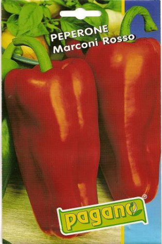 Peperone Marconi Rosso-Red Marconi Pepper Seeds-4 gms