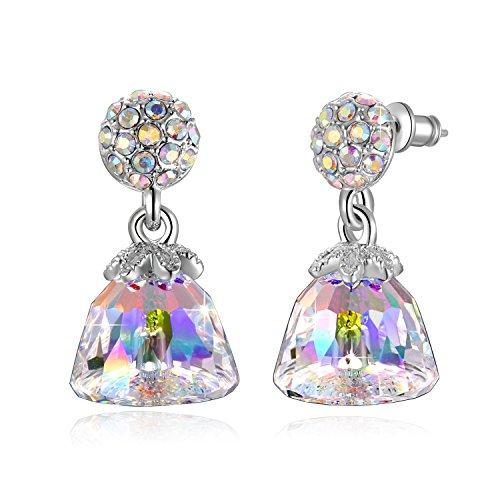 Design Clear Swarovski Crystal Ring - Swarovski Element Earrings Lovely