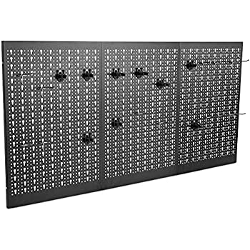 Vonhaus 50 Piece Wall Mounted Plastic Pegboard And Shelf