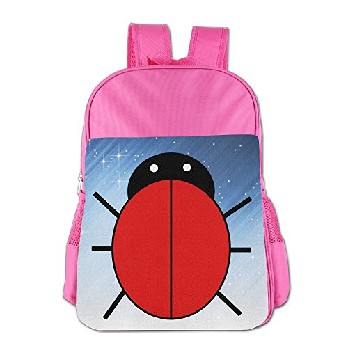 XianNonG Red Ladybug Boys And Girls Large Capacity School Bags Pink