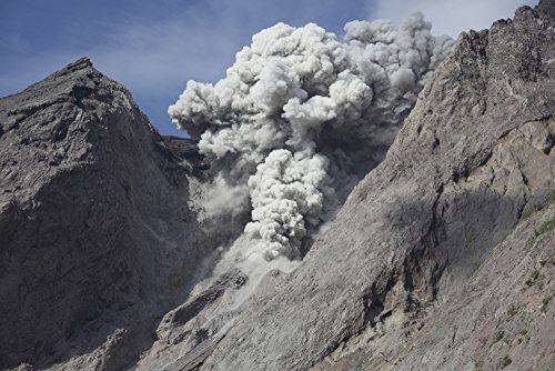Posterazzi November 28 2012-Ash and steam Cloud from Explosive strombolian Eruption Rising from Active Crater of Batu Tara Volcano Komba Island Indonesia Poster Print (17 x 11)