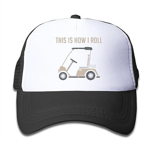 BOYGIRL-CAP This is How I Roll Golf Cart Funny Golfers Kids Girls Boys  Adjustable b48860c6059