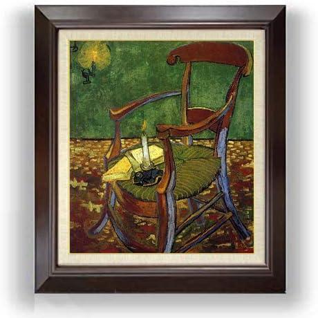 ゴッホ ゴーギャンの肘掛け椅子 F10 油絵直筆仕上げ| 絵画 10号 複製画 ブラウン額縁 675×601mm