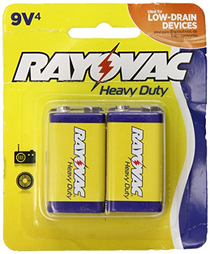 Rayovac Heavy Duty 9V Batteries, D1604-4TD, 4-Pack
