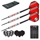 Red Dragon Phoenix: 25g - 90% Tungsten Steel Darts with Red No.1 Hardcore Flights, Shafts, Wallet & Red Dragon Checkout Card