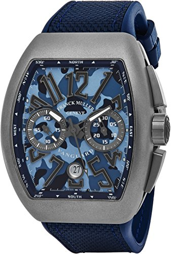 franck-muller-vanguard-mens-automatic-date-chronograph-blue-camouflage-face-blue-rubber-strap-watch-