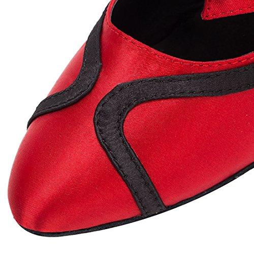 Red MiyooparkUK Danse Black HW180515 Heel Salon Femme 8cm Miyoopark de B4YFxAwBfq