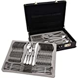 Sterlingcraft 72pc Heavy Gauge Surgical Stainless Steel Flatware+Hostess Set Gift Boxed