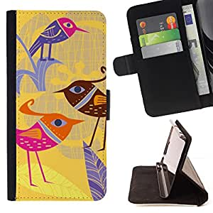 - Bird Beautiful Fashion Design - Estilo PU billetera de cuero del soporte del tir???¡¯????n [solapa de cierre] Cubierta- For LG Nexus 5 D820 D821 £¨ Devil Case £©