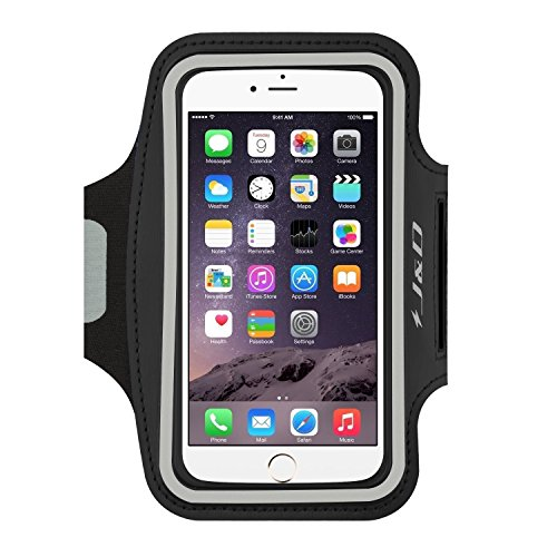 J&D Armband Compatible for iPhone 7 / iPhone 8 / iPhone 6 / iPhone 6S Armband, Sports Armband with Key holder Slot for Apple iPhone 6 Running Armband, Perfect Earphone Connection while Workout Running