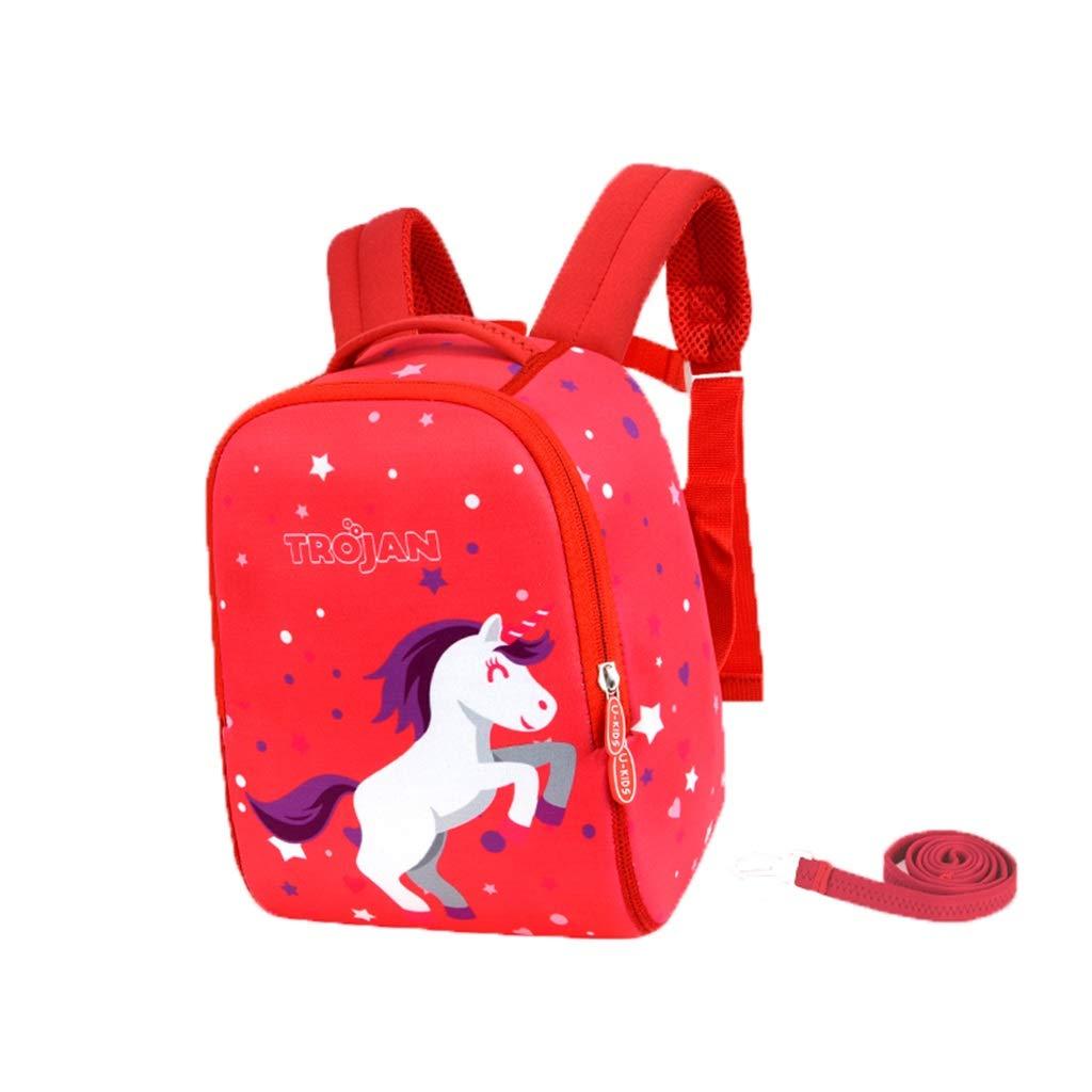 LMETBB Toddler Baby, Anti-Lost Lost Cartoon Backpack, Safety Backpack Kid Anti-Lost, Toddler Backpack, Cute Cartoon Backpack, Anti-Slip Buckle Design, boy Girl (Color : F)