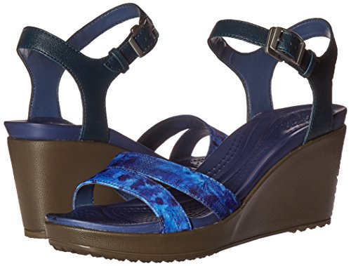 Pictures of Crocs Women's Leigh II Ankle Strap Wedge Leighii Anklestrap Graphic Wdg 4